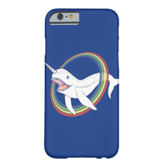 Cute Horn Narwhal With Rainbow Cartoon Barely There iPhone 6 Case