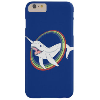 Cute Horn Narwhal With Rainbow Cartoon Barely There iPhone 6 Plus Case