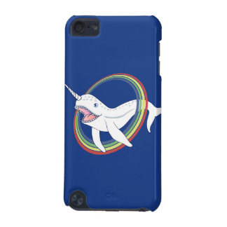 Cute Horn Narwhal With Rainbow Cartoon iPod Touch (5th Generation) Case