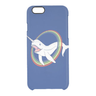 Cute Horn Narwhal With Rainbow Cartoon Clear iPhone 6/6S Case
