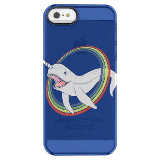 Cute Horn Narwhal With Rainbow Cartoon Clear iPhone SE/5/5s Case