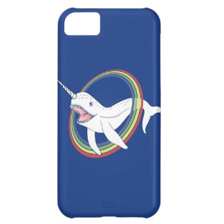 Cute Horn Narwhal With Rainbow Cartoon Cover For iPhone 5C