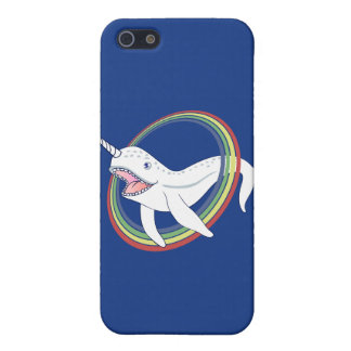 Cute Horn Narwhal With Rainbow Cartoon Cover For iPhone SE/5/5s