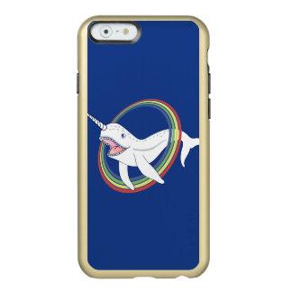 Cute Horn Narwhal With Rainbow Cartoon Incipio Feather Shine iPhone 6 Case