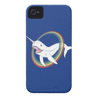 Cute Horn Narwhal With Rainbow Cartoon iPhone 4 Case-Mate Case