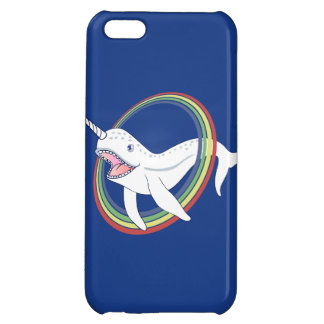 Cute Horn Narwhal With Rainbow Cartoon iPhone 5C Case
