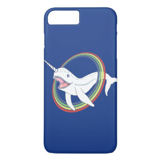 Cute Horn Narwhal With Rainbow Cartoon iPhone 8 Plus/7 Plus Case