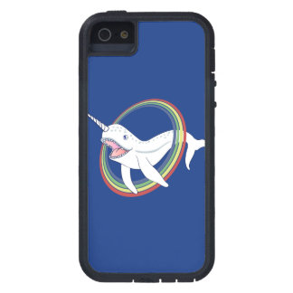 Cute Horn Narwhal With Rainbow Cartoon iPhone SE/5/5s Case