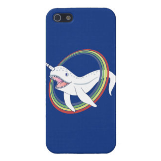 Cute Horn Narwhal With Rainbow Cartoon iPhone SE/5/5s Cover