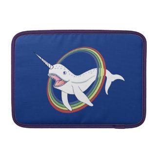 Cute Horn Narwhal With Rainbow Cartoon MacBook Air Sleeve