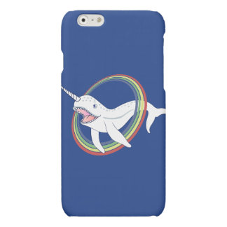Cute Horn Narwhal With Rainbow Cartoon Matte iPhone 6 Case
