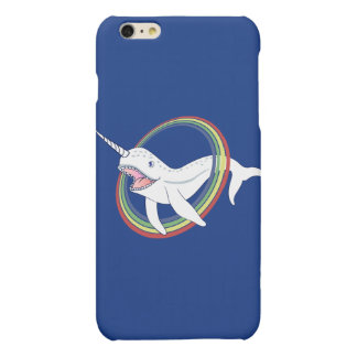 Cute Horn Narwhal With Rainbow Cartoon Matte iPhone 6 Plus Case