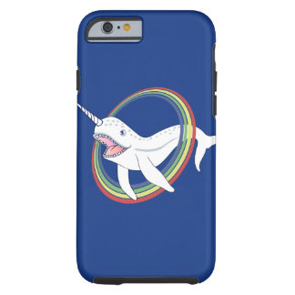 Cute Horn Narwhal With Rainbow Cartoon Tough iPhone 6 Case