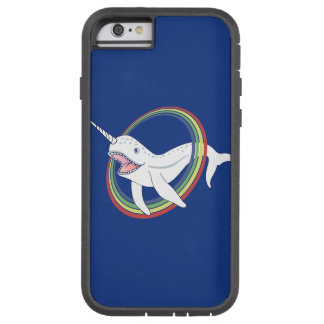 Cute Horn Narwhal With Rainbow Cartoon Tough Xtreme iPhone 6 Case