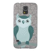 Cute Horned Owl - Miny Green Galaxy S5 Case