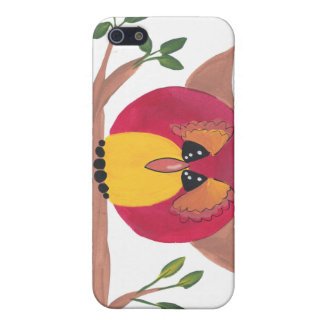 Cute Horned Owl Painting Cover For iPhone SE/5/5s
