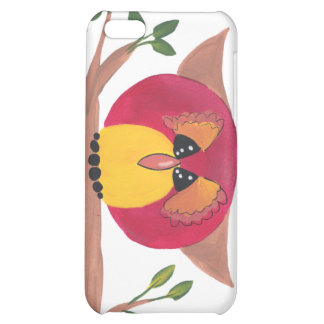 Cute Horned Owl Painting Case For iPhone 5C