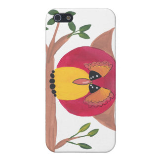 Cute Horned Owl Painting Covers For iPhone 5