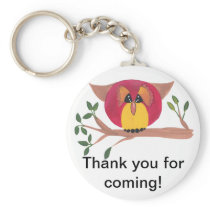 Cute Horned Owl Painting Keychain