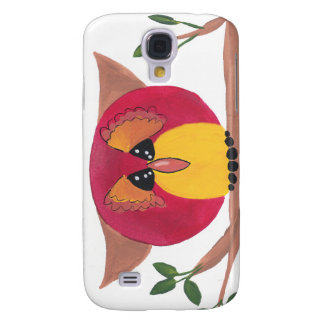 Cute Horned Owl Painting Samsung Galaxy S4 Case