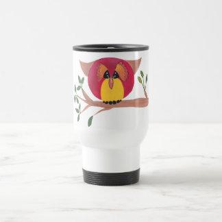 Cute Horned Owl Painting Travel Mug