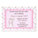 Cute Horse 1st Birthday Invitation for Girls