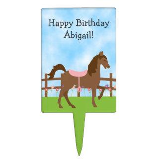 Cute Horse Birthday Cake Topper