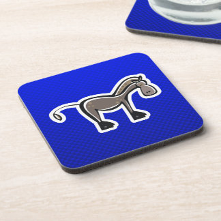 Cute Horse; Blue Drink Coasters