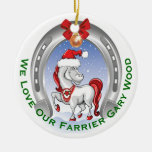 Cute Horse Christmas Gift for Farrier Christmas Ornaments