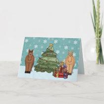 Cute Horse Christmas Greeting Card