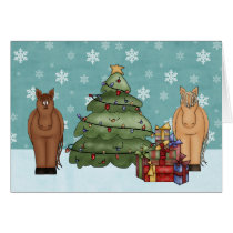 Cute Horse Christmas Greeting Card