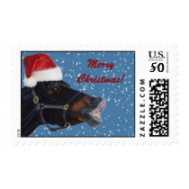Cute Horse Christmas Postage Stamps