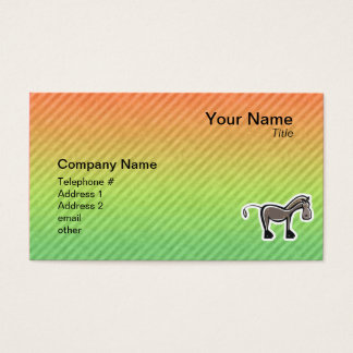 Cute Horse; Colorful Business Card