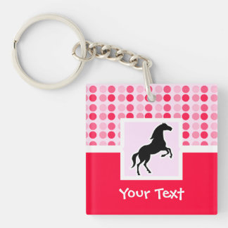 Cute Horse Double-Sided Square Acrylic Keychain