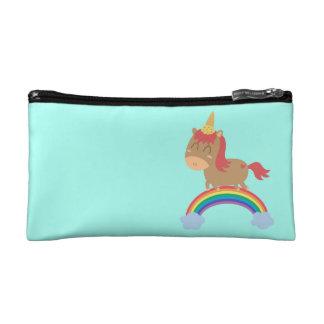 Cute Horse Dreams to be Unicorn Humor Cosmetic Bag