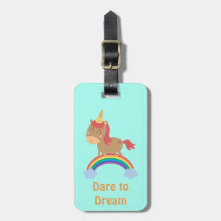 Cute Horse Dreams to be Unicorn Humor Tags For Luggage