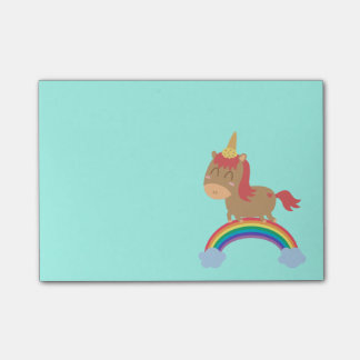Cute Horse Dreams to be Unicorn Humor Post-it Notes