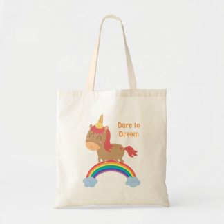 Cute Horse Dreams to be Unicorn Humor Tote Bag