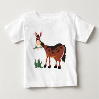 Cute horse eating grass baby T-Shirt