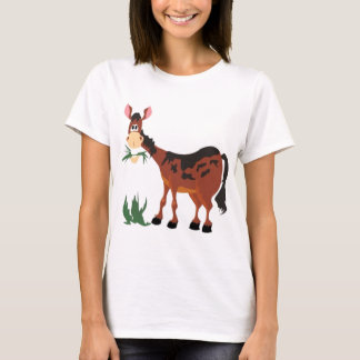 Cute horse eating grass T-Shirt