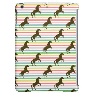 Cute Horse, Equestrian, Rainbow Pattern iPad Air Covers