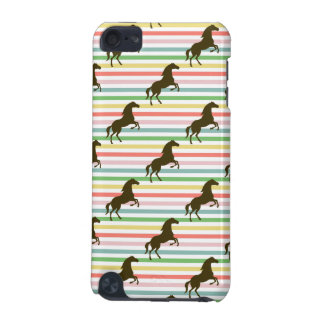 Cute Horse, Equestrian, Rainbow Pattern iPod Touch 5G Cover
