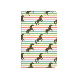 Cute Horse, Equestrian, Rainbow Pattern Journal