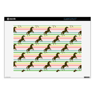 Cute Horse, Equestrian, Rainbow Pattern Decal For Laptop