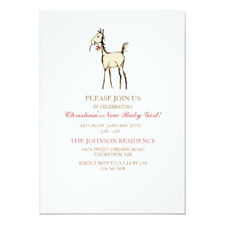 Cute Horse Foal Baby Shower Invitation