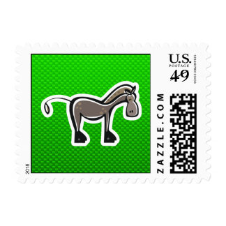 Cute Horse; Green Postage