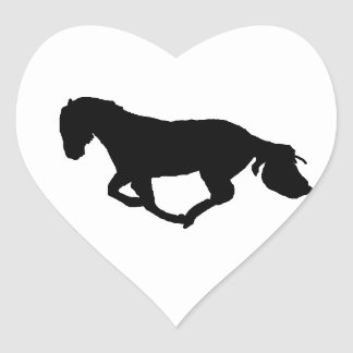 Cute Horse Heart Silhouette Sticker