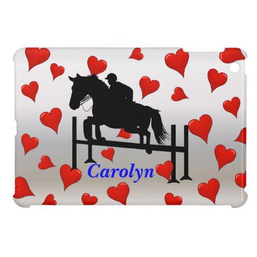 Cute Horse Jumper and Hearts iPad Mini Cases