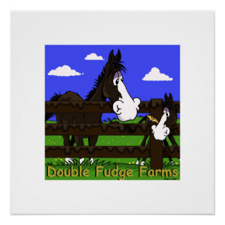cute horse kids cartoon poster