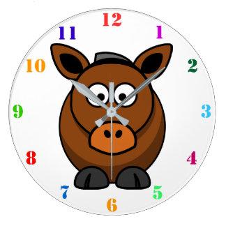 CUTE HORSE Kids Wall Clock
